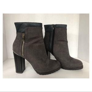 Juicy Couture Charcoal J Clivia Heeled Boots